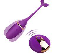 USB Аккумуляторная Вибрационная Прыжок Яйцо Беспроводной Пульт Дистанционного Управления Вибраторы Секс-Игрушки для Женщин Упражнение Вагинальный Кегал Бал G-точечный Массажер