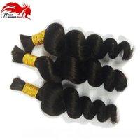 H 7a Cabelo brasileiro Mini trança Bulk cabelo solto cabelo de onda Para trança Pacotes profunda solto Aceno brasileira