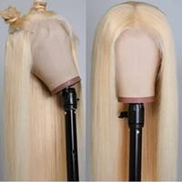 24inch # 613 실크 스트레이트 최고 품질의 합성 레이스 프론트 가발 열 저항 긴 머리 가벼운 금발 흑인 여성용 코스프레 가발