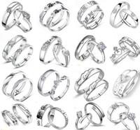 Engagement / Hochzeit 925 Sterling Silber Ring Herz Frauen Schmuck Kreuz Herren Paar Ringe MOQ 30 Stck