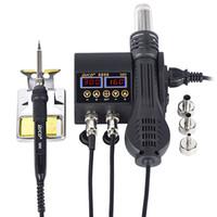 2 cep telefonu BGA-SMD PCB IC Onarım lehim demir hairdry 8898 için 1 750W sıcak hava tabancası LCD Dijital gösterge kaynak rework istasyonu