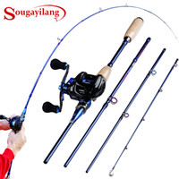 Sougayilang Fishing Rod Combo Lure Rod 2. 1M 2. 4M 4 Sections ...