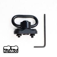 QD Sling pivotant Keymod adaptateur à montage sur rail Fente Kit couleur Noir (QD pivotant inclus)