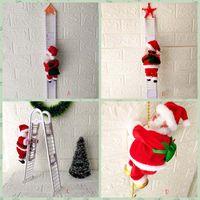 Симпатичные Электрический Санта-Клауса рождественские украшения Санта-Клаус Дети электрические игрушки Санта-Клауса игрушки восхождение лестницы партии HH9-2613