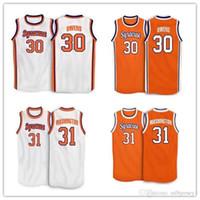 Billig # 4 Rony Seikaly # 1 Hakim Warrick # 30 Billy Owens # 31 Dwayne Pearl Washington Syrakuse Orange 1991 College Jersey