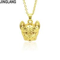 JINGLANG Donne Gold Colore Madre cane a forma di monili delle catene pendente della collana degli animali da regalo ciondolo