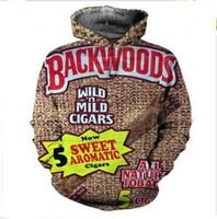 Yeni Moda Rahat 3D Baskı Hoodies Backwoods Erkekler / Kadınlar Sonbahar ve Kış Kazak Hoodies BC047