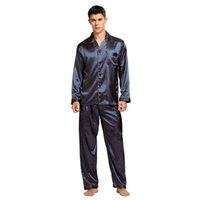 Tonycandice الرجال عارضة الحرير بيجامة مجموعة الرجال منامة الحرير النوم الرجال مثير الحديثة نمط لينة دافئ الساتان ثوب النوم الصيف