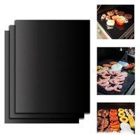 Ptfe Non-stick Bbq شواية وسادة خبز Pad Reusable Teflon Cooking Plate 40 * 33cm For Party Grill Matols New