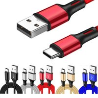 Alloy braided cables Type c Micro V8 1m 2m 3m usb cable for samsung s7 s8 s9 s10 note 8 9 htc sony mobile
