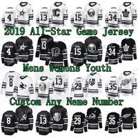 2019 Camicia da gioco All-Star Miro Heiskanen Joe Pavelski Johnny Gaudreau Mathew Barzal Jack Eichel Nathan Mackinnon Auston Matthews Jimmy Howard