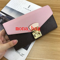 محفظة الإناث حقيبة مخلب طويلة النسخة الكورية من متعدد الوظائف شخصية مشبك الشياطين اليد عقد المزيد من حامل البطاقة محافظ أحمر وردي أسود