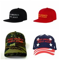 Fashion Sport Donald Trump Hats Embroidery Make America Great Again Cappello Trump Support Cappellini da baseball Outdoor Travel Tappi da sole TTA715