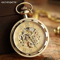 Pocket Watch Roman Numerals Dial Mechanical Hand Wind Pocket...