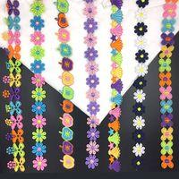 20191104 Daisy Fruchtfarbe Spitzen Zubehör Kleidungsdekoration Tuch manuelle DIY kleine Patch Paste einfügen