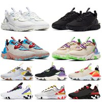 nike react vision stock x nike epic react element 55 87 Vente en gros Hommes Femmes Chaussures de course Triple Blanc Noir Photon Dust Athletic Trainers Sneakers