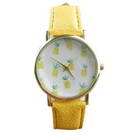 New Arrival Simple Pineapple Pattern Design Dial Women Watch...