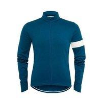 Mens Rapha Pro Team Велоспорт Длинный рукав Джерси МТБ велосипедная рубашка Открытый Спортивная одежда Дышащие быстрые сухие гонки Топы дороги Велосипеда одежда Y21042119