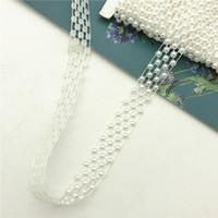 10yards baratos en muchos perla bordado con cuentas de época boda de la cinta de la cinta del borde del cordón de ajuste apliques DIY de coser