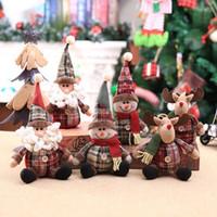 Poupée De Noël Jouets Santa Claus Bonhomme de neige Elk Arbre de Noël suspendus ornement décoration pour la maison Xmas Party Nouvel An Cadeaux Lxl348l