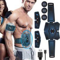 Músculo abdominal Estimulador instrutor EMS Fitness Equipment engrenagem de treinamento Músculos Electro estimulador exercício em casa J1756