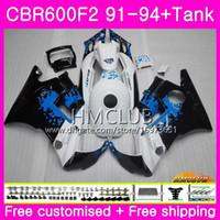 Bodys para HONDA CBR 600F2 CBR 600 F2 FS 91 92 93 94 Graffiti azul 76HM.12 CBR600 F2 CBR600FS CBR600RR CBR600F2 1991 1992 1993 1994 carenado