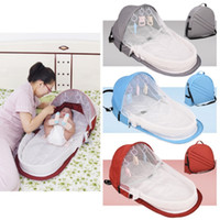 Portable Bed With Toys For Baby Foldable Baby Bed Travel Sun...