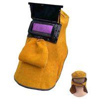 Protezione Freeshipping pelle Casco Saldatura Maschera solare auto-oscuranti Filter Lens traspirante automatico Luce Saldatore sicurezza Hood Casco