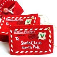 no tejido 12x8cm sobre de la Navidad de Navidad de la invitación Tarjetas de felicitación Candy Bag decoración del sobre Tarjetas de felicitación Candy Bag