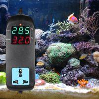 Digital LED Controlador de temperatura Termostato Termómetro Interruptor de control Sensor Medidor Sonda para cría de acuarios de agua