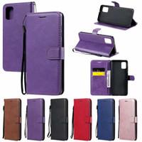 Магнитная откидная крышка Слот для карты ID держателя PU Plain кожаный бумажник чехол для Samsung Galaxy A11 A31 A51 A71 A21S 5G A21 A41 A81 A91 A70E M11 M31