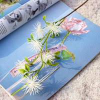 6heads branch small fake plants decorative plastic artificia...