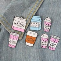 Cool Coffee Cup Milk Brooch Pin Enamel Badge Collar Clothes ...