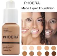 Phoera Perfect Beauty 30ml Liquid Foundation Base Soft Matte Long Wear Control Control Controaler Foundation Cream Women Trucco