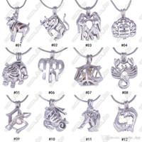 12 constelação pérola gaiola medalhão pingentes sem corrente diy colar de pérolas amor signos do zodíaco charme pingentes montagens jóias presente