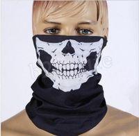 Máscaras cráneo mágico turbante Pañuelos cara del cráneo esquelético de Deportes al aire libre fantasma Pañuelos diadema de ciclo de la motocicleta Wrap CCA12237