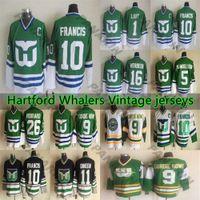 Hartford Whalers Vintage jerseys 10 FRANCIS 11 Dineen 9 Gordie Howe 16 VERBEEK 26 FERRARO 5 SAMUELSSOV 1 LIUT CCM Hockey Jersey
