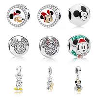 Für Pandora Armbänder 20 stücke Cartoon Spielzeug Miki Mini Emaille Anhänger Charme Perlen Silber Charms Perle Für Frauen Diy Europäischen Halskette Schmuck