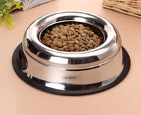Dog bowls stainles steel food and water dog bowl pet feeder ...