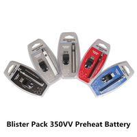 Pacote de blister 350 VV Preaquecimento Da Bateria 350 mAh Torção Inferior Kit Cartucho Vape Pen Tensão Variável Ego Spinner Bateria com Carregador USB