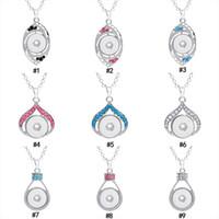 45 colores Noosa 18 MM Chunks Snap Button Colgante de cristal de diamantes de imitación Amor Corazón Ojo cisne Encanto de mano Fit Jengibre Snap Collar Joyería a granel
