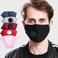 Maske Gesicht Atemventil PM2.5 Filterkissen Wiederverwendbare Baumwolle Waschbar Atemventil Mundmaske 6colors können LJJK2233