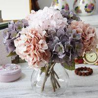 Düğün Dekorasyon Ipek Ortanca Sonbahar Vazo Ev Dekorasyon Noel Dekorasyon Çiçek Duvar Seti Yapay Çiçek XD22589
