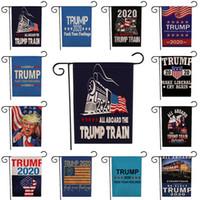 Bandiere TRUMP 2020 Garden Bandiera 12 stili Lino Elezione all'aperto Yard rendere l'America Great Again all'aperto OOA7473-4