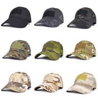 16 أنماط الجيش مروحة snapbacks في الهواء الطلق قبعة البيسبول الذكور التكتيكية التمويه قبعة الرياضة سحر عصا الشمس كاب ZZA1335