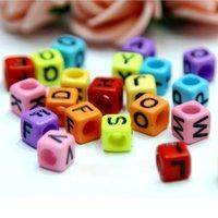 Новая акриловой цифра английского сочетания ясно письма свободных шариков ювелирных изделия завод прямое ручное бисероплетение 6 * мм