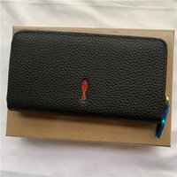 Leather long rivet wallet luxurious multi- functional compart...
