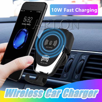 Nuovo C12 senza fili dell'automobile del caricatore 10W veloce senza fili Caricabatteria da auto Mount Air Vent gravità Phone Holder per iPhone Xs Max Samsung S10 tutto Qi Devices