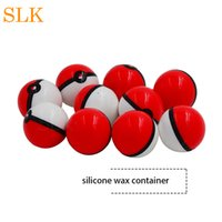 6ml ball shape silicone jars dab wax container holder FDA Ap...