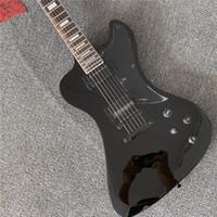 شحن مجاني الساتان الأسود rd نوع الغيتار الكهربائي، متجر مخصص غيتار RD مع الأجهزة السوداء، جودة عالية guitarra، كل الألوان المتاحة
